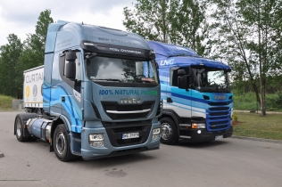 Iveco Stralis NP400 i Scania G340 LNG